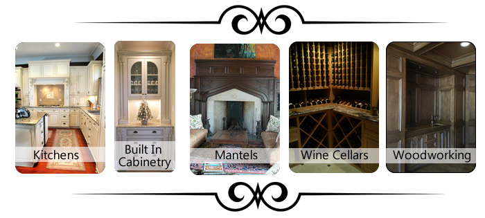 Custom kitchens, cabinetry, mantels, wine cellars, woodworking in Knoxville